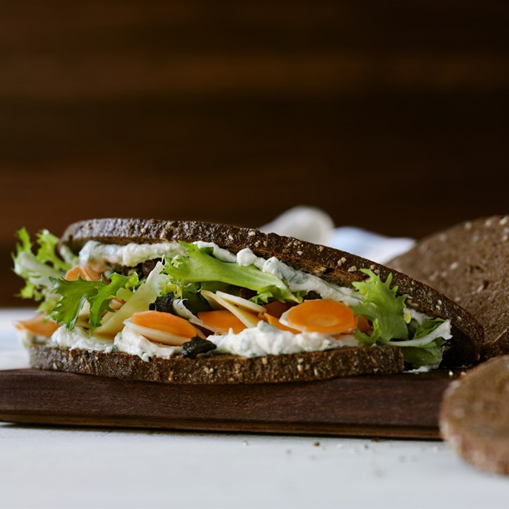 Lemon root veg sandwich