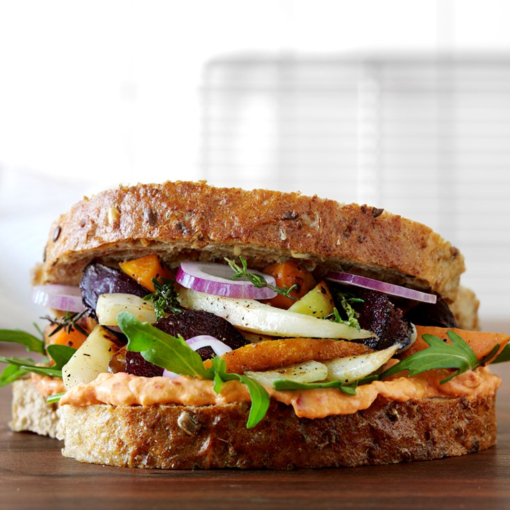 Root vegetable sandwich